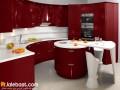 آشپزخونه قرمز رنگ مدرن و زیبا در ۱۱ طرح جذاب