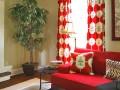پرده قرمز رنگ در ۱۵ مدل زیبا برای دکوراسیون خانه