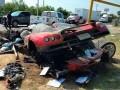 تصادف وحشتناک خودرو میلیاردی   عکس - اخبار خودرو